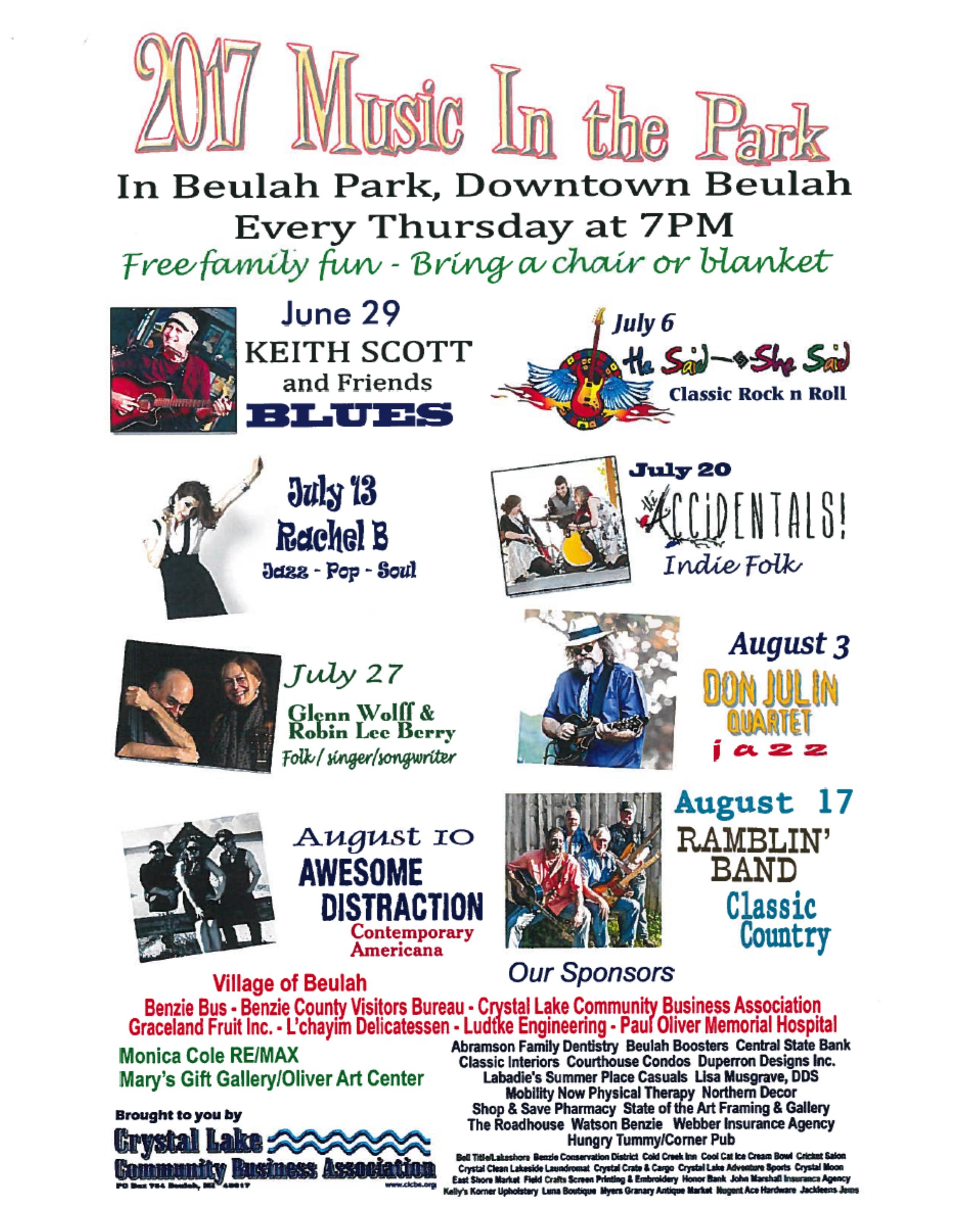Print a poster for Music in the Park